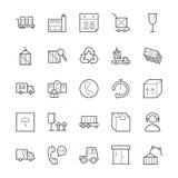Icone fresche 3 di vettore di consegna logistica royalty illustrazione gratis