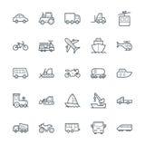 Icone fresche 1 di vettore di trasporto Immagini Stock