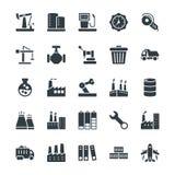 Icone fresche industriali 3 di vettore Fotografia Stock