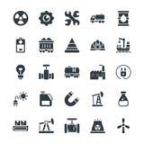 Icone fresche industriali 1 di vettore Fotografia Stock