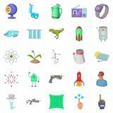 Icone future messe, stile di tecnologia del fumetto Fotografia Stock