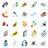 Icone future messe, stile isometrico Immagine Stock Libera da Diritti