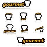 Icone gastronomiche royalty illustrazione gratis
