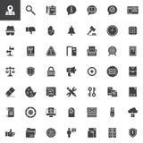 Icone generali di vettore di regolamento di protezione dei dati messe illustrazione di stock