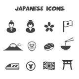 Icone giapponesi della coltura | COLORE ROSSO uno Immagine Stock Libera da Diritti
