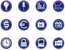 Icone - il commercio ha impostato 1. Fotografie Stock