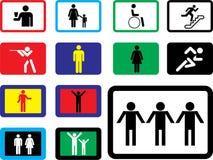 Icone. Immagini grafiche della gente Immagini Stock