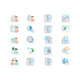 Icone impostate illustrazione vettoriale