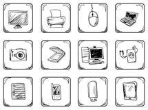 Icone impostate Immagini Stock