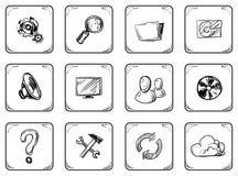 Icone impostate Immagini Stock Libere da Diritti