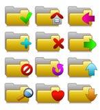 Icone impostate - cartelle di applicazioni di media di Web Fotografia Stock Libera da Diritti
