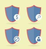 Icone impostate 4 pezzi Può essere utilizzato nelle interfacce di WEB illustrazione vettoriale