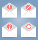 Icone impostate 4 pezzi Può essere utilizzato nelle interfacce di WEB, il cellulare, UI illustrazione di stock