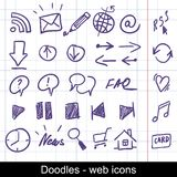 Icone imprecise di Web Fotografia Stock
