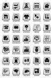 Icone industriali Fotografia Stock Libera da Diritti