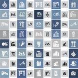 20 icone industriali Fotografie Stock Libere da Diritti