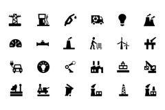 Icone industriali 3 di vettore Fotografie Stock Libere da Diritti