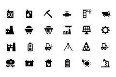 Icone industriali 2 di vettore Immagine Stock