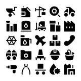 Icone industriali 5 di vettore Fotografia Stock Libera da Diritti