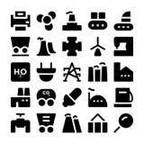 Icone industriali 9 di vettore Fotografia Stock