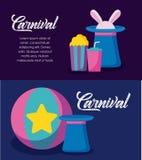 Icone infographic di celebrazione di carnevale illustrazione di stock