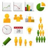 Icone infographic piane Immagine Stock Libera da Diritti