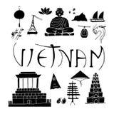 Icone isolate del Vietnam royalty illustrazione gratis