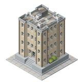 Icone isometriche della costruzione di alti aumenti per il gioco Immagine Stock