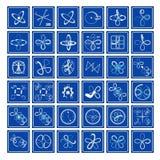 icone La geometria nelle arti di flusso illustrazione vettoriale