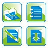 Icone - la ricerca stampa e trasferisce Fotografia Stock