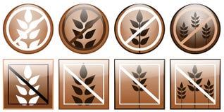 Icone libere del glutine isolate Fotografie Stock Libere da Diritti