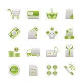 Icone in linea del negozio Fotografie Stock