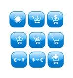 Icone in linea del negozio di Web della memoria Immagine Stock