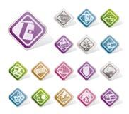 Icone in linea semplici del negozio, di commercio elettronico e di Web site royalty illustrazione gratis