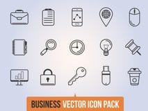 Icone lineari di affari messe Immagine Stock Libera da Diritti
