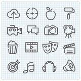 Icone lineari di vettore moderno messe Fotografie Stock