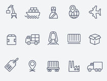 Icone logistiche illustrazione di stock