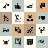 Icone logistiche di consegna di vettore per il web, infographic o la stampa illustrazione di stock