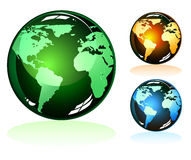 Icone lucide della terra illustrazione di stock