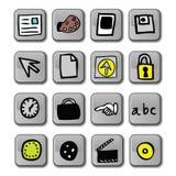 Icone lucide di applicazione Immagini Stock