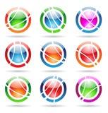 Icone lucide di orbita illustrazione di stock