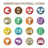 Icone lunghe dell'ombra di football americano Immagini Stock Libere da Diritti