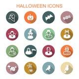 Icone lunghe dell'ombra di Halloween Immagine Stock Libera da Diritti
