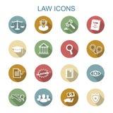 Icone lunghe dell'ombra di legge Immagine Stock Libera da Diritti