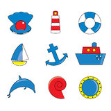 Icone marine. Fotografie Stock