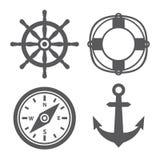 Icone marine Fotografia Stock