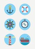 Icone marittime fotografie stock libere da diritti