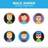 Icone maschii dell'avatar Fotografia Stock Libera da Diritti