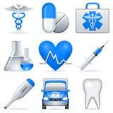 Icone mediche. Fotografia Stock