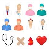 Icone mediche Fotografie Stock